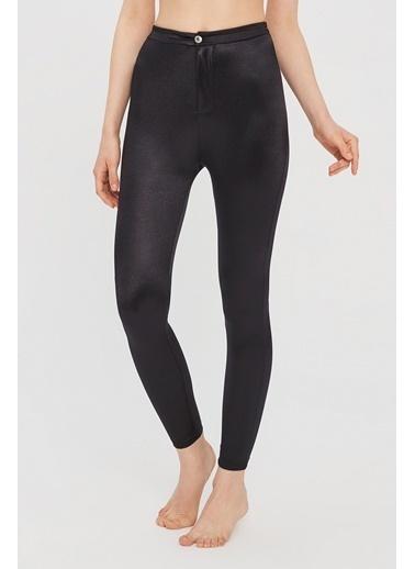 Penti Siyah Shiny Button Detaylı Pantolon Siyah